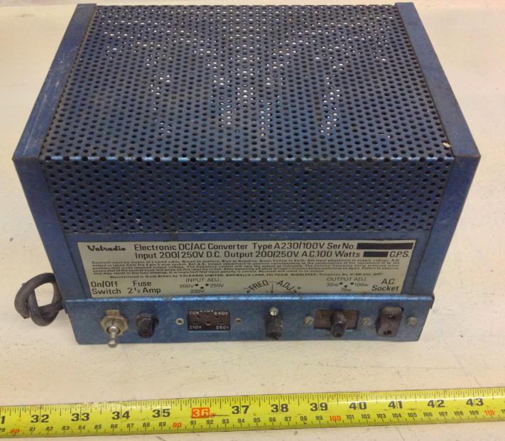 VALRADIO LTD,. Electronic DC/AC Converter