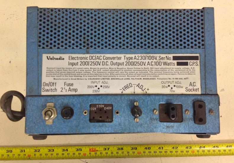 VALRADIO LTD,. Electronic DC/AC Converter/3